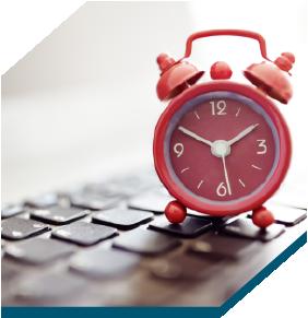An Alarm clock on a keyboard